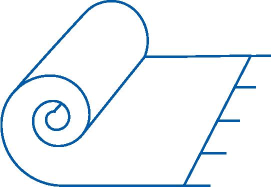 blue rug outline