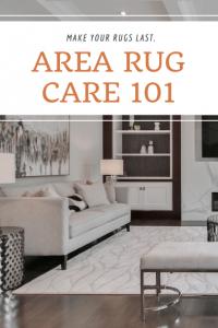 area rug care 101