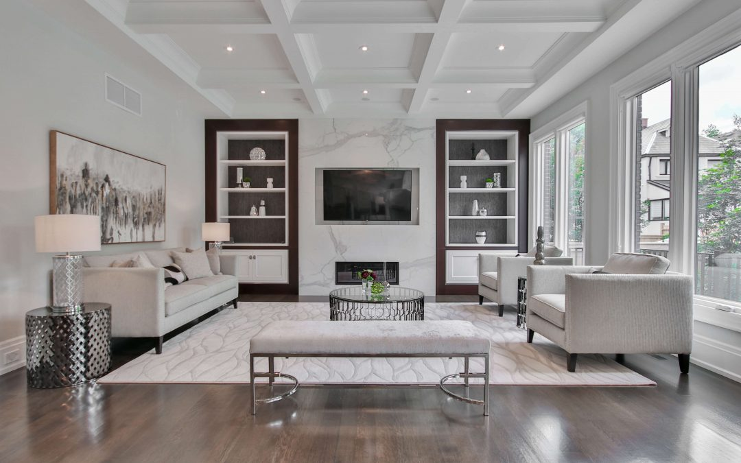 clean white area rug in gastonia home